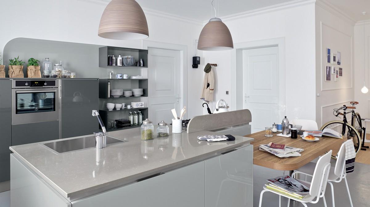 Cucina Bianca E Tortora – Idea d\'immagine di decorazione